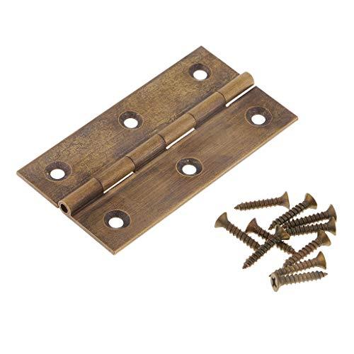 Harilla Bisagra a Tope Plegable para Armario de Puerta/Cajón/Joyero/Caja de Madera - Bronce antiguo