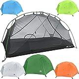 Hyke Byke 1 Person Backpacking Tent(テント) with Footprint - Lightweight Zion One Man 3 Season Ultralight, Waterproof, Ultra Compact 1p Freestanding Backpack Tent(テント)s for Camping and Hiking (Forest Green) 並行輸入品