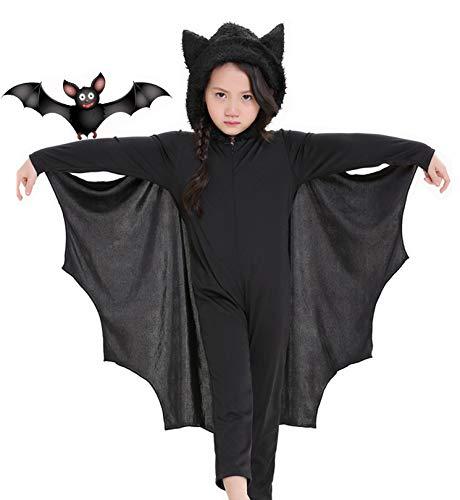 Seawhisper Vampir Kostüm Kinder Fasching Kostüm Jungen Fledermaus Halloween Kostüm mit Fledermaus Umhang 110 116 122 128 134 140 146 152