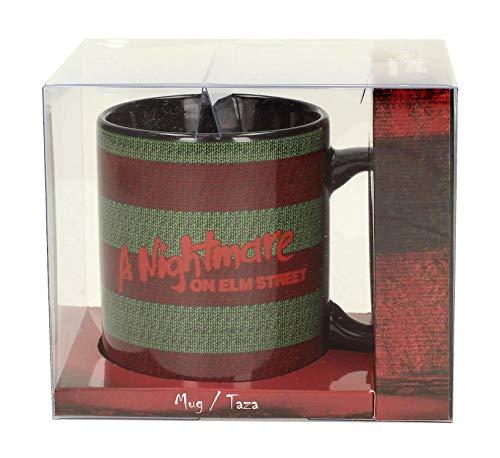 Unbekannt A Nightmare on Elm Street Tasse Freddy Krueger Pullover - schwarz/rot/grün, Bedruckt, aus 100% Keramik, Fassungsvermögen ca. 320 ml.