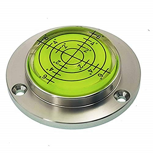 XMLEI Aluminum Alloy universal level Mini Level Round Bubble Spirit Level Diameter 50mm Height 115mm(1PCS) Green
