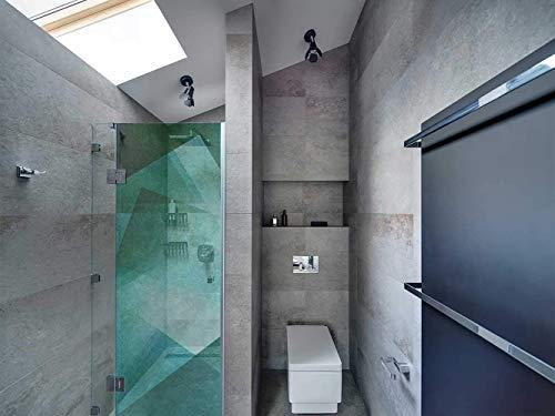 Transparentes Vinyl für Duschwände und Badewannen Moderne und grüne Kunst   Mehrere Maße 185x60cm   Beständiger und leicht aufzutragender Klebstoff Dekorativer Aufkleber Dekoratives Design