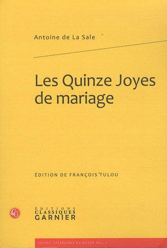 FRE-LES QUINZE JOYES DE MARIAG (Textes Litteraires Du Moyen Age, Band 5)