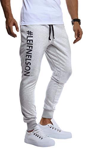 Leif Nelson Pantaloncini da Uomo Pantaloni Corti Sportivi LN-8295 Grigio Nero Medium