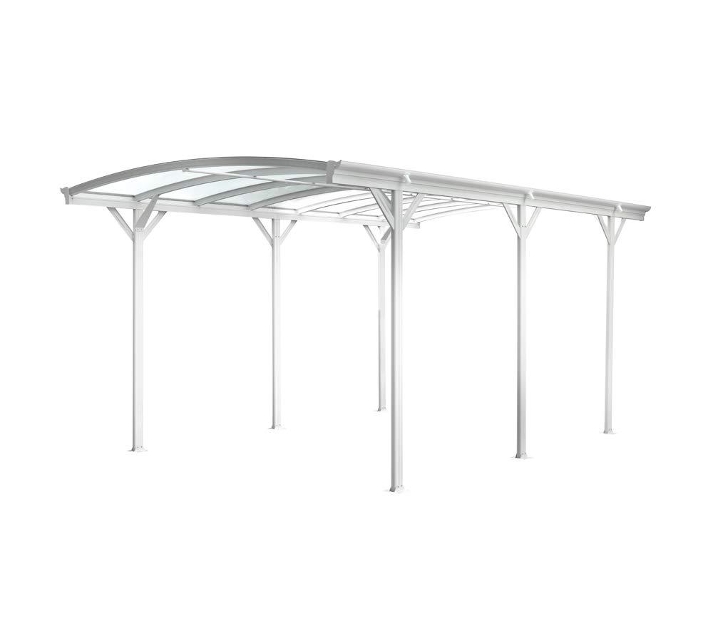 Westmann - Arco de aluminio para caravana, incluye canalón, color blanco: Amazon.es: Jardín