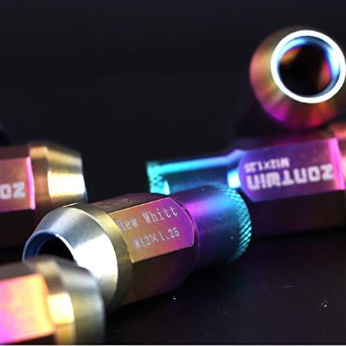 BAN SHUI JU MINSU GUANLI Dado Ruota Esagonale Leggero Forgiato in Lega di Titanio GR5-TC4 Bullone Vite 12 * 1,25/12 * 1,5 per 17 Manicotti Uso Sicuro (Color Name : 10pcs, Specifications : M12x1.5)