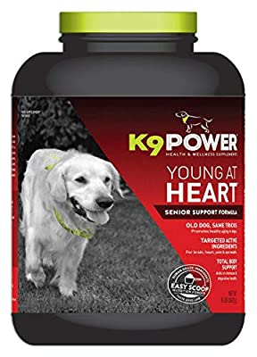 K9 Power Young at Heart - Nutritional Support Formula for Senior Dogs - 8 lb