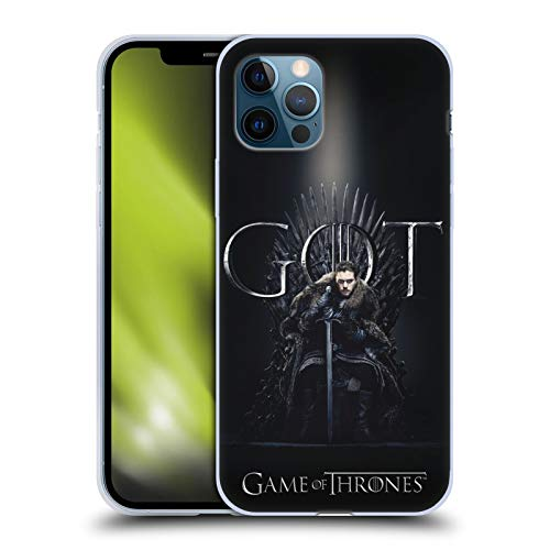 Head Case Designs Officially Licensed HBO Game of Thrones Jon Snow Season 8 for The Throne 1 Soft Gel Case Compatible with Apple iPhone 12 / iPhone 12 Pro