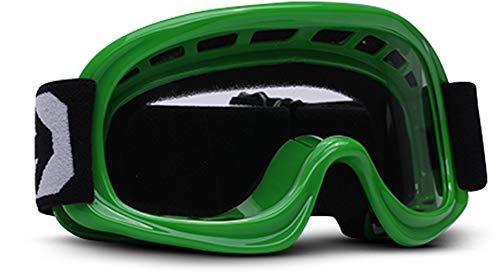 ARMOR Helmets AKC 49 Kinder Schutz-Brille, Motorrad-Helm, Grün