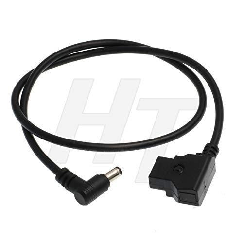 HangTon D-tap DC 5.5 2.5 mm ángulo recto 12 voltios DC barril Jack Cable de alimentación para Atomos Inferno Monitor (2 pies/60 cm)