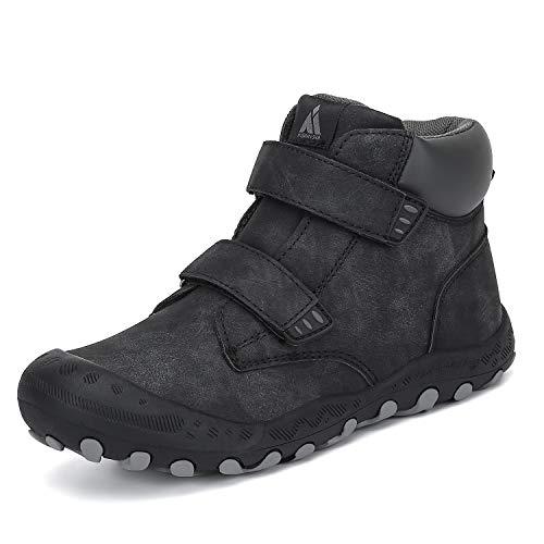 Mishansha Zapatos de Botas de Invierno para Unisex-Niños Botas de Senderismo Botas de Montaña Deportiva Cómoda Negro Gr.31
