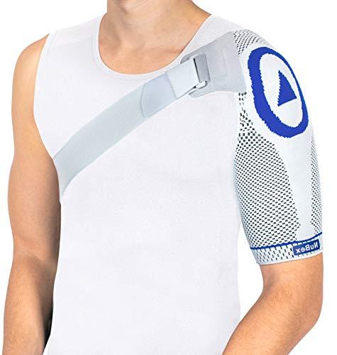 Nutrics | Aktiv Schulterbandage | Damen und Herren | Mehr Stabilität Mehr Stabilität + Schmerzlinderung | Designed in Germany (M, Linke Schulter)