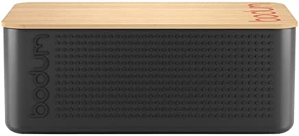 Bodum Australia Pty Bread Box with Cutting Board, Black, 11555-01