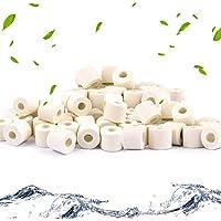 Anillos de cerámica para acuario, filtros de bio, anillos de cerámica premium para todos los tipos de peceras y estanques, 1000 g