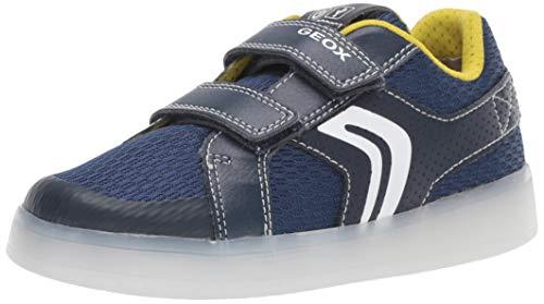 Geox Jungen J KOMMODOR BOY A Sneaker Blau (Navy/Lime C0749) 28 EU