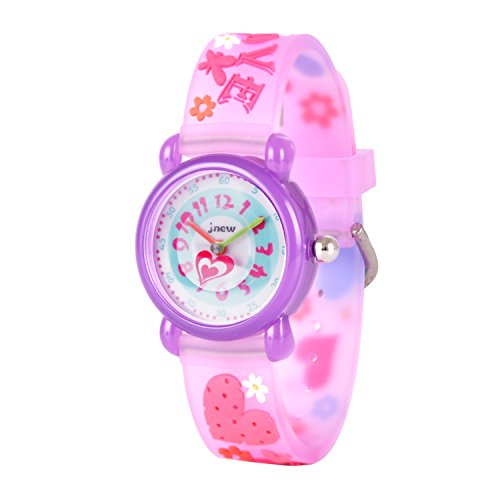 Image of Wolfteeth Watches for Girls Kids Watches Purple Sweet Heart Band 306607