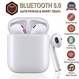 Bluetooth 5.0 Noise Cancelling Funkkopfhörer 3D Stereo IPX7 Wasserdichtes Auto-Popup-Fenster...