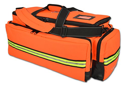 X-Tuff Oxygen and Airway Trauma Bag by Lightning X Florescent Orange