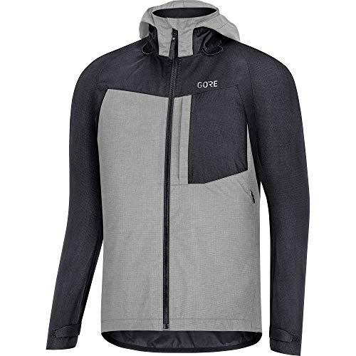 GORE WEAR Men's C5 Gore-TEX Trail Hooded Jacket, Black, L