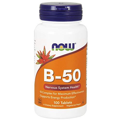 NOW B-50 Vitamina B Complejo 100 Tabletas 100 g