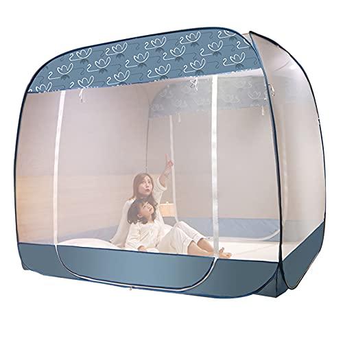 Mosquitera Mosquitera Portátil para Acampar, Mosquitera De Protección contra Caídas para Adultos/Niños para Cama Individual/Doble, Tienda De Mosquitera De Viaje Plegable