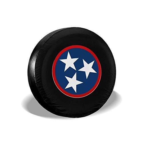 GOSMAO Fundas para neumáticos para fanáticos de los Deportes, Azul Tri-Star Tennessee Flag, 1 Cubierta para neumáticos de Rueda de Repuesto, Apta para remolques, caravanas, SUV y Muchos 16 Pulgadas