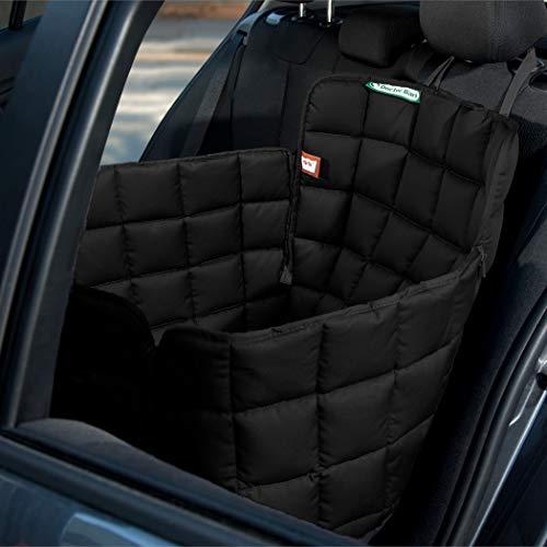 Doctor Bark Hunde 1-Sitz-Autoschondecke für die Rücksitzbank, All-Side Schutz mit Reißverschluss für alle PKWs und SUVs, S in Schwarz
