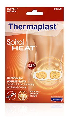 Thermaplast Spiral HEAT Wärmepflaster für Rücken und Nacken, Wärmetherapie bei verspannten und steifen Muskeln, zur gezielten Schmerzlinderung, 1 x 2 Pflaster