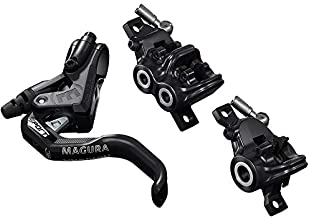 Magura MT Trail Sport 2701389 Bicycle Brake 1-Finger HC Lever Left/Right Suitable Set Consisting of Two Brakes for Front Wheel 4 and Rear Wheel 2 Pistons, Black, One Size
