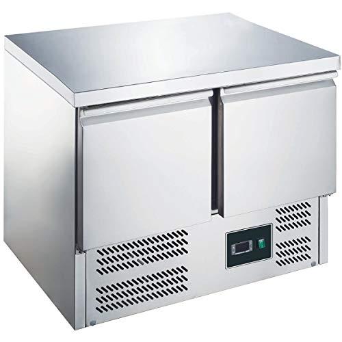 ZORRO - Kühltisch ZS901-2 Türen - Gastro Saladette mit Arbeitsfläche - R600A - Digitales Thermostat