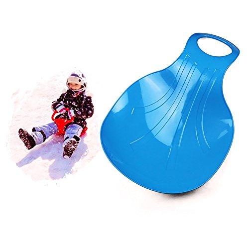 PRUNUS Schneeteller Rutscherl für Kinder und Erwachsene, Auch perfekt geeignet für Gras und Sand - Zum Rutschen(Blau)
