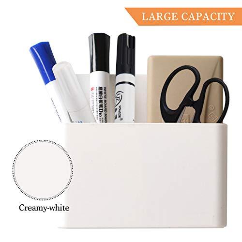 2 Pack Magnetic Dry Erase Marker Holder, Whiteboard Marker Holder, Mighty-magnetic Marker Pen Organizer for Whiteboards (White) Photo #4