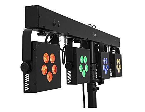 EUROLITE LED KLS-902 Next compacte lichtset | bar met 4 krachtige RGB + WW-spots, QuickDMX-aansluiting, IR-afstandsbediening en tas