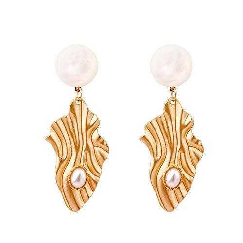JCX 2021New Earrings Female Earrings Geometric Design Personality Irregular Ear Jewelry