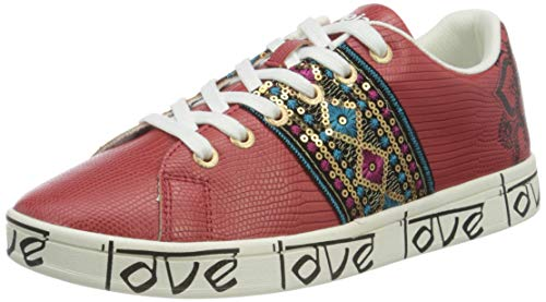 Desigual Shoes_Cosmic_Exotic in, Sneakers Woman Donna, Rosso, 40 EU