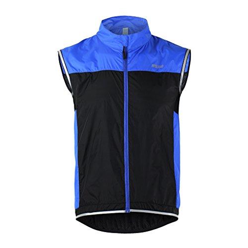 Tofern Unisex Weste Sportweste leicht atmungsaktiv für Laufen Fahrrad Sport, Blau XL