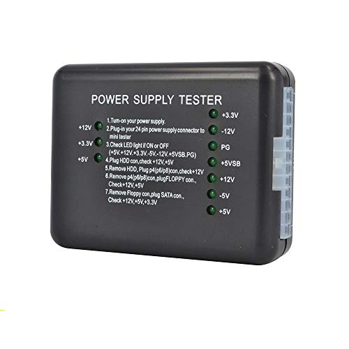 Storin Motherboard Power Supply Tester Computer PC 24 pin 20 pin 8 pin 6 pin 4 pin for PSU, ATX, SATA, HDD, SMPS, PC, Floppy with LED Indicator Light