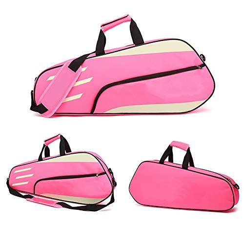 Jetta King Bolsa de Tenis, Bolso de bádminton Pista 3 Paquete de Niños y Niñas Mochila (Color : Pink)