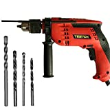Corded Hammer Drill 650W 10 Drill Bits, Powerful Variable Speed Hammer Screwdriver Drill 3 in 1