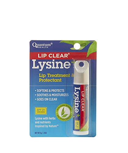 Quantum Health, Lip Clear Lysine + Coldstick, SPF-21, 5g (Pack of 4)