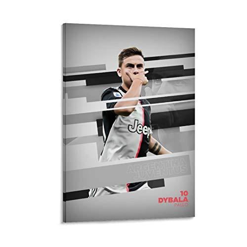 VBNFG The famous Football Superstar Fußballspieler Paulo Dybala High Definition Sport Poster Dekorative Malerei Leinwand Wandkunst Wohnzimmer Poster Schlafzimmer Gemälde 30 x 45 cm