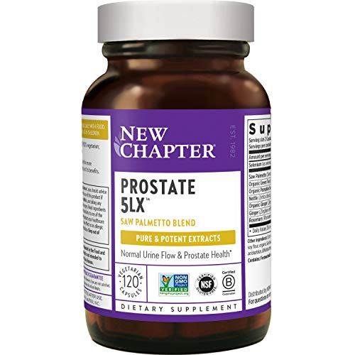 New Chapter Prostate Supplement - Prostate 5LX with Saw Palmetto + Selenium for Prostate Health - 120 ct Vegetarian Capsule