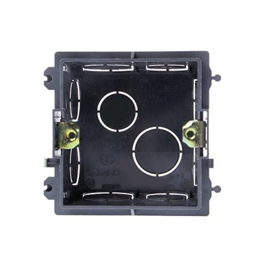 ZZALLL 86- Casete del Soporte de la Pared de la Caja de Conexiones del PVC para la Base del Enchufe del Interruptor