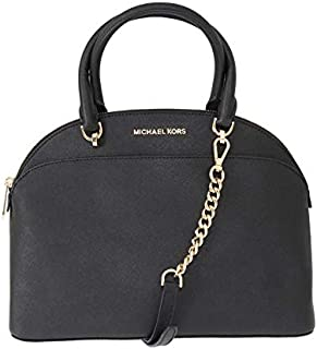MICHAEL Michael Kors Large Dome Emmy Saffiano Leather Satchel Shoulder Handbag