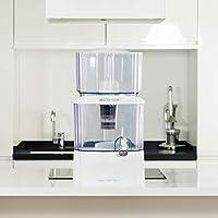 eco-de aqua filter tower distributore d'acqua filtrante che filtra l'acqua del rubinetto con 8 sistemi di filtraggio 24l bianco