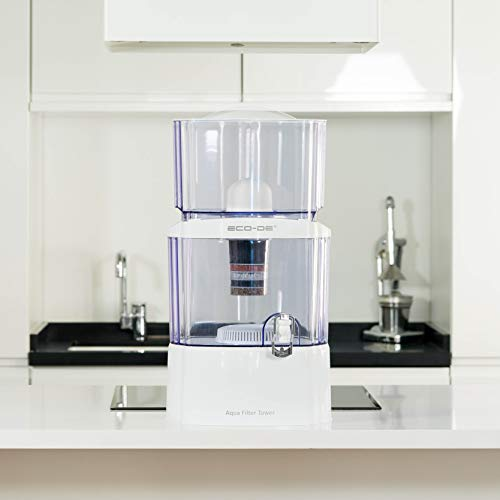ECO-DE Aqua Filter Tower purificateur d'eau, 8 systèmes de filtrage, Filtre en céramique, Carbone, de Pierres Naturelles