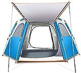 LAZ Tente extérieure, entièrement Automatique Camping Anti-Épaississement Wild Storm Accueil Tente, Tente instantanée for la Famille Activités de Plein air et 2 Tailles