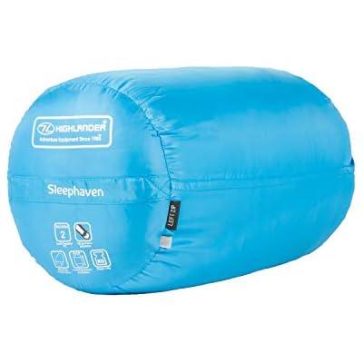 XL Junior Sleeping Bag Highlander Pod Design Camping Zip Ultra Soft Extra Large