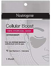 Neutrogena Cellular Boost Oogmasker, oogmasker met vitamine C en adenosine voor een zichtbaar gladdere, verfriste huid rondom de ogen, voor alle huidtypen, 1 paar