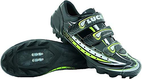 LUCK Zapatilla de Ciclismo Master, con Suela de Carbono y Triple Tira de Velcro para una sujeción (42 EU)